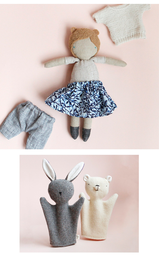 Ouistitine - toys with recycled fabrics