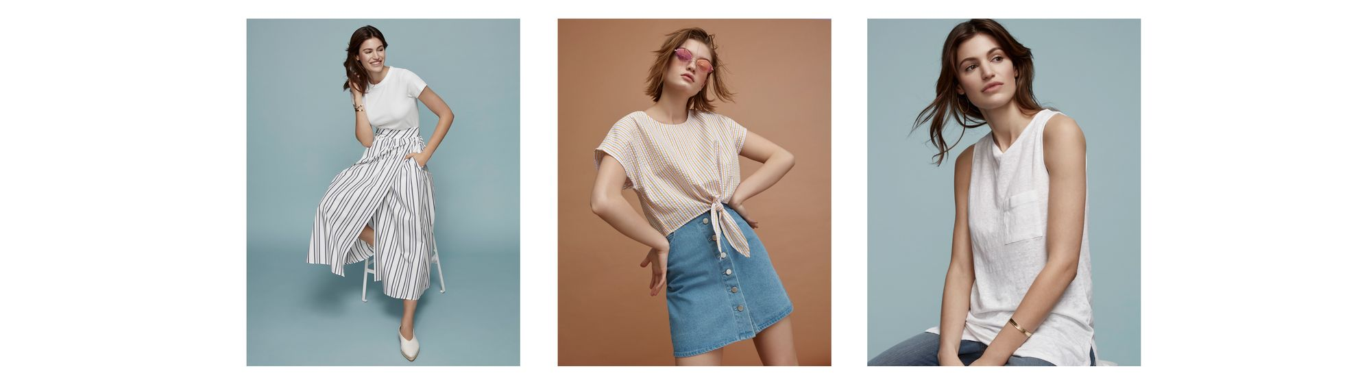 ef8b0080baf79 In finishing off your casual-chic looks for warm weather, don't hesitate to  pair these pieces with a summery top like a fluid cami, a knotted top, ...