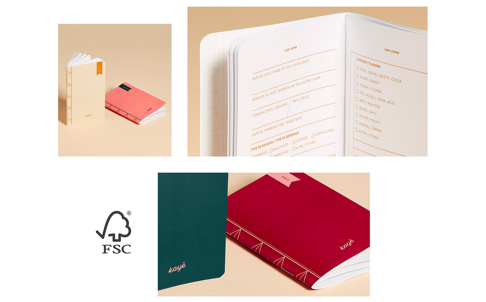 Kayé Notebooks I products with FSC certified paper