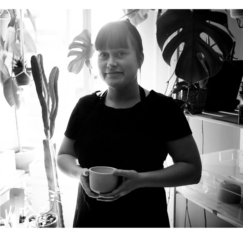 Catherine Lebel Ouellet, owner of ceramic company
